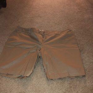 Tan color Bermuda shorts